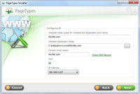 PageTypes Installer - IIS configuration.