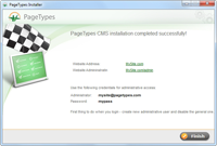 PageTypes Installer - final step.