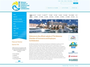 The Bahamas Chamber of Commerce - website redesign