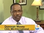Mr. Donovan Moxey, CEO IBS International, presenting National Prescription Drug Plan website